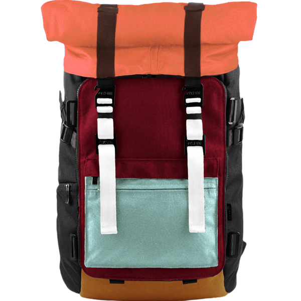 Customize Oxdin Venix Roll-top Backpack Sample 02