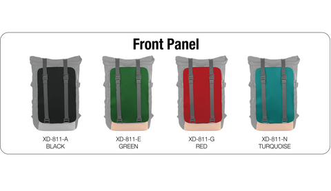 Oxdin Venix Backpack Roll-Top Plain XD-104-4-A-AAA Front Panel