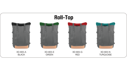 Oxdin Venix Backpack Roll-Top Plain XD-104-4-A-AAA Roll Top