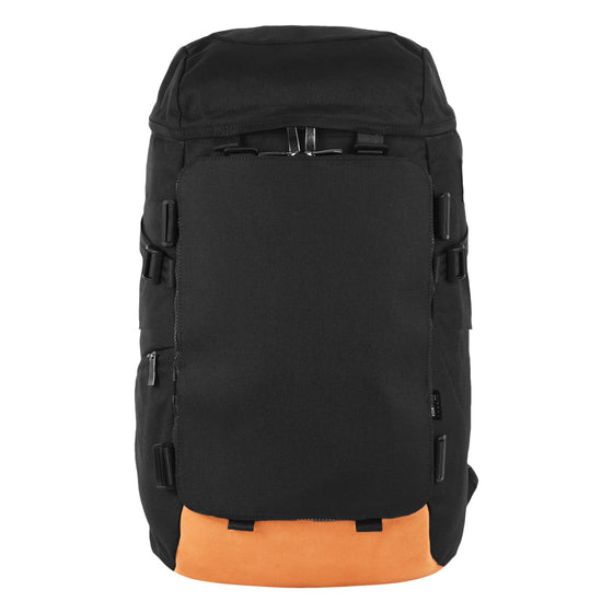 Oxdin Venix Cap-Top Plain Backpack XD-105-4-A-AAAA BLACK