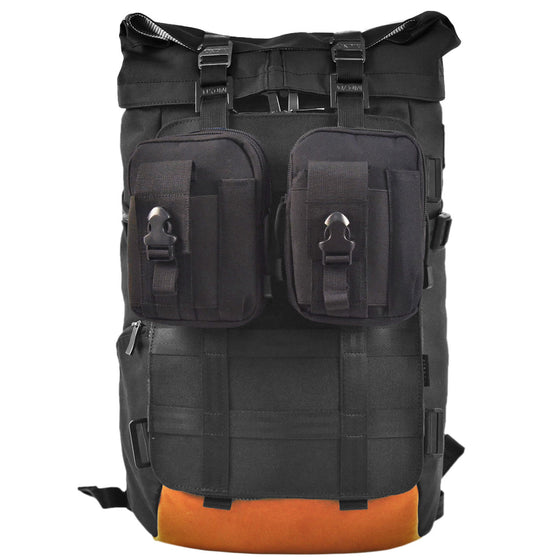 Oxdin Venix Roll-Top Molle Backpack XD-106-4-A-AAAA BLACK