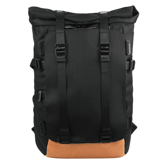 Oxdin Venix Roll-Top Plain Backpack XD-104-4-A-AAAA BLACK