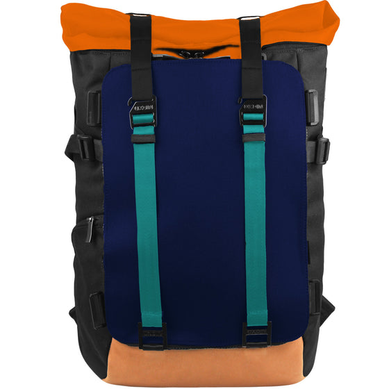 Oxdin Venix Roll-Top Plain Backpack XD-104-4-A-DHXN
