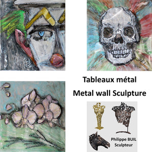 Tablas de metal - Esculturas de pared