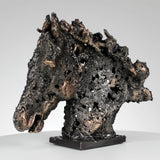 Cheval Barbe VII Sculpture animal metal - tete cheval acier bronze Philippe Buil