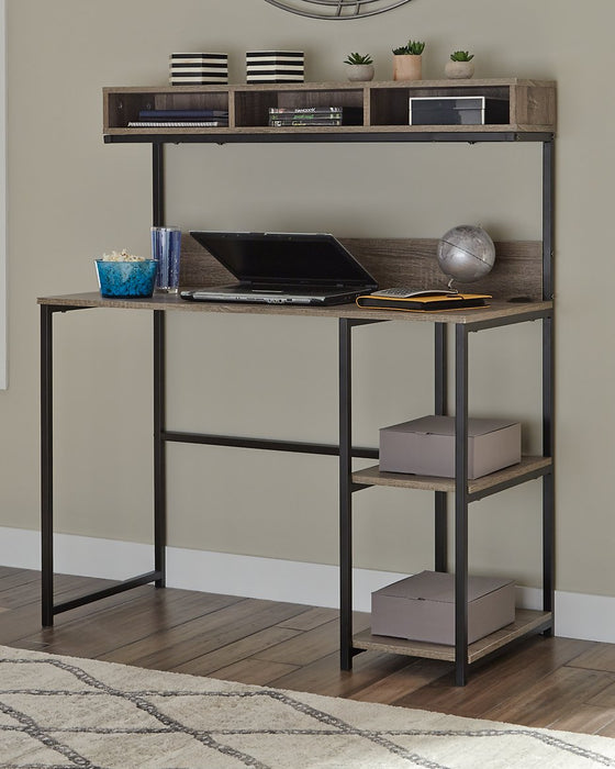 Daylicrew Signature Design by Ashley Home Office Desk and Hutch image
