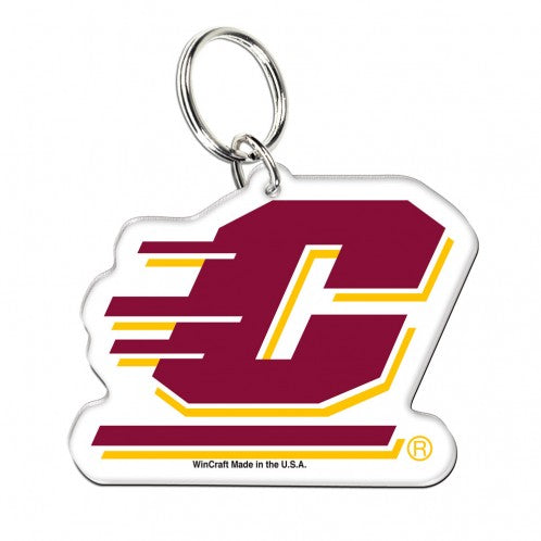 Central Michigan University Chippewas Acrylic Key Ring