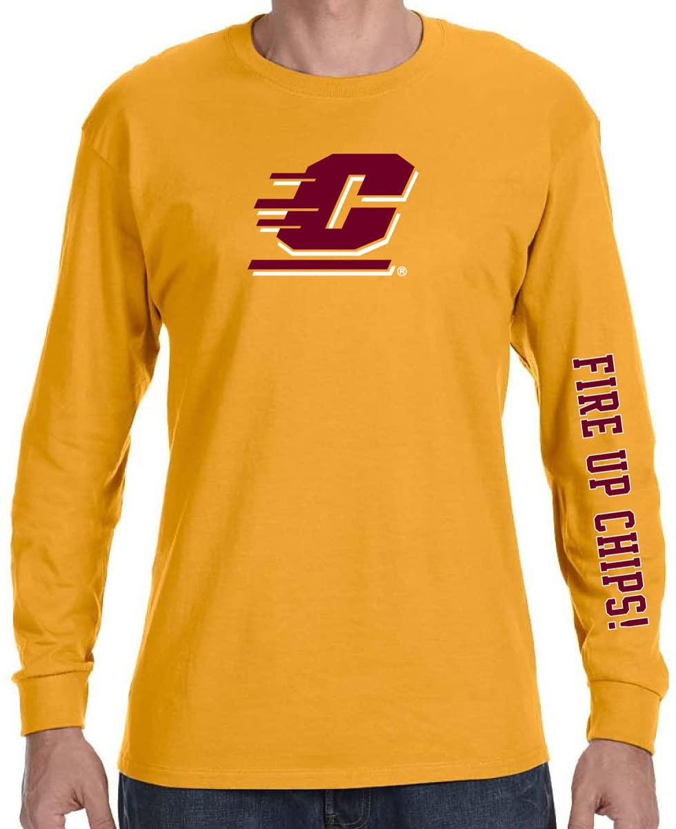 J2 Sport Central Michigan University Chippewas NCAA Team Spirit Unisex Long Sleeve Shirt