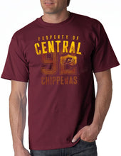 Load image into Gallery viewer, J2 Sport Central Michigan Chippewas NCAA Eroded Shield Logo Unisex T-Shirt