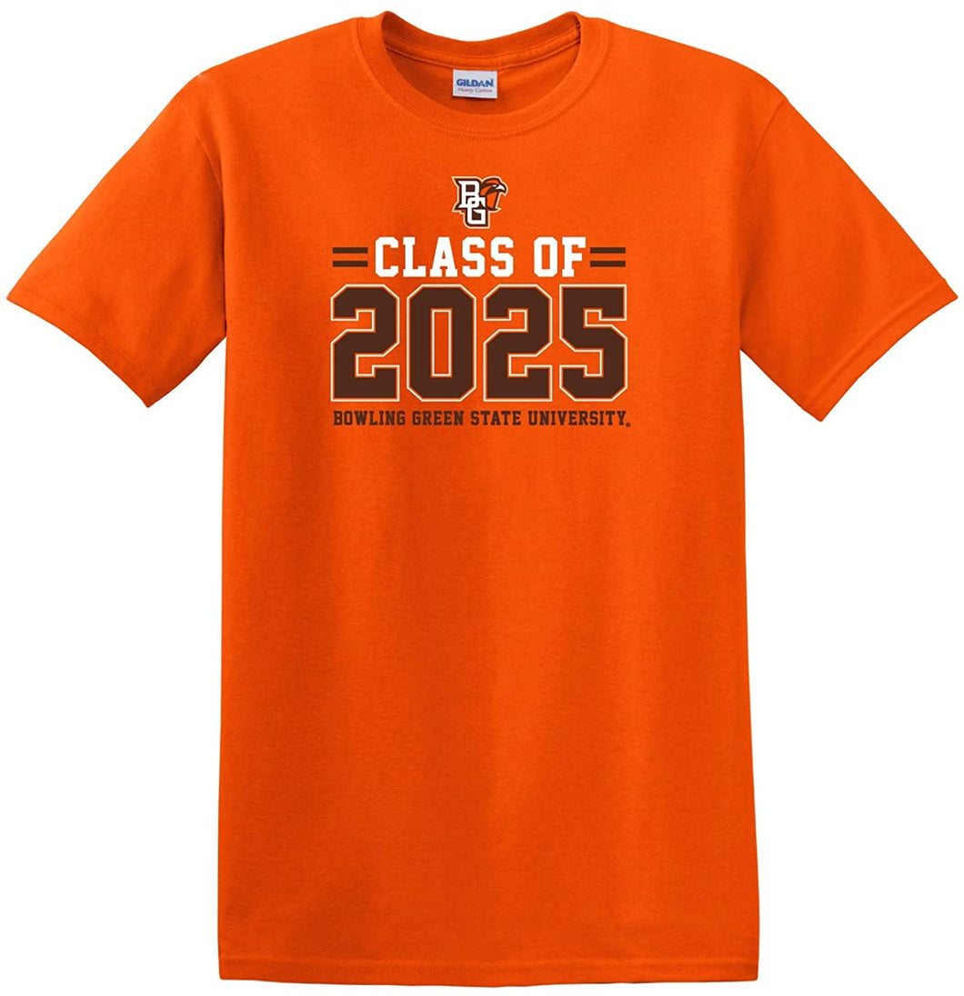 Bowling Green State Falcons NCAA Class of 2025 Stacked T-Shirt