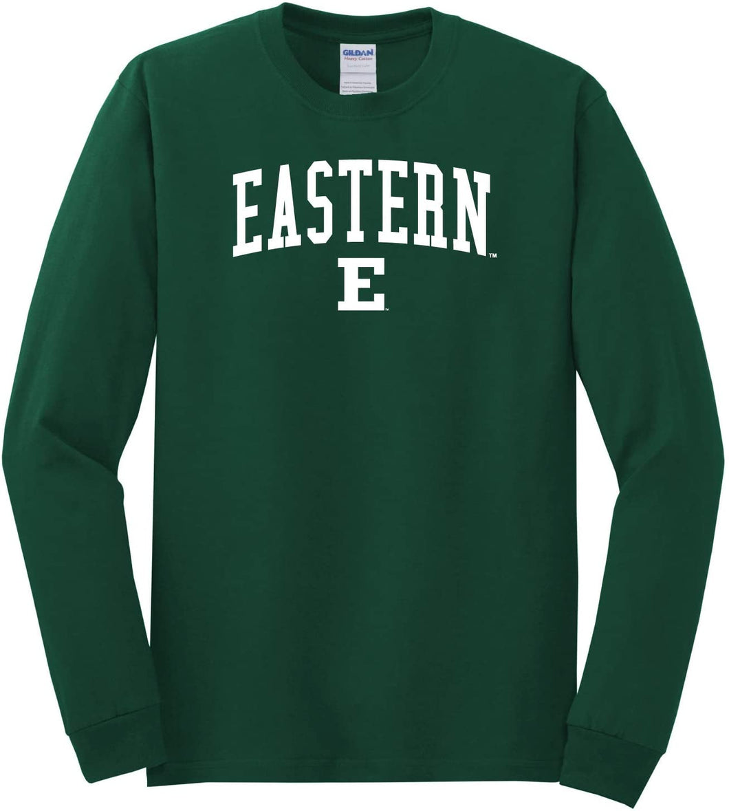 Eastern Michigan University Eagles NCAA Jumbo Arch Unisex Long Sleeve T-Shirt