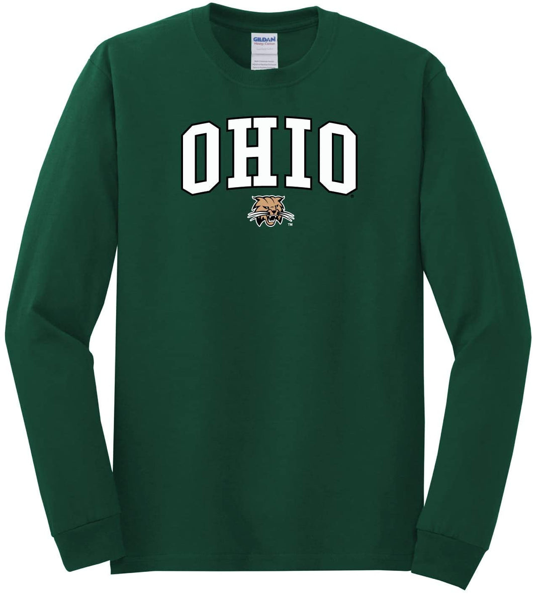 Ohio University Bobcats NCAA Jumbo Arch Unisex Long Sleeve T-Shirt