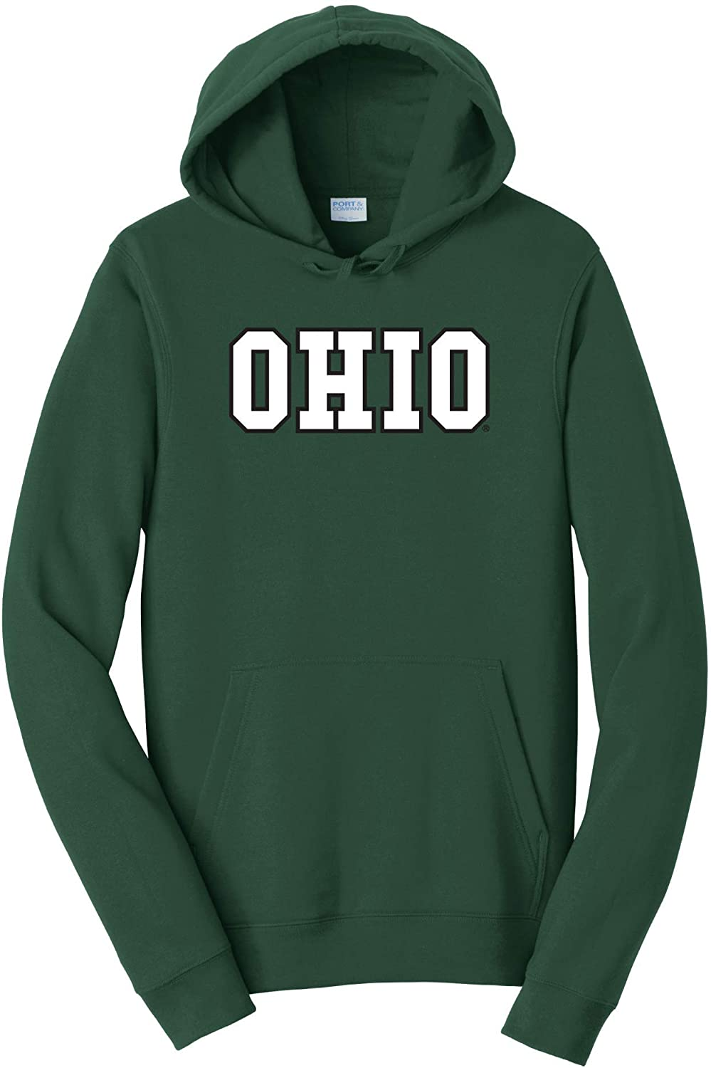 Ohio University Bobcats NCAA Block Unisex Hooded Sweatshirt