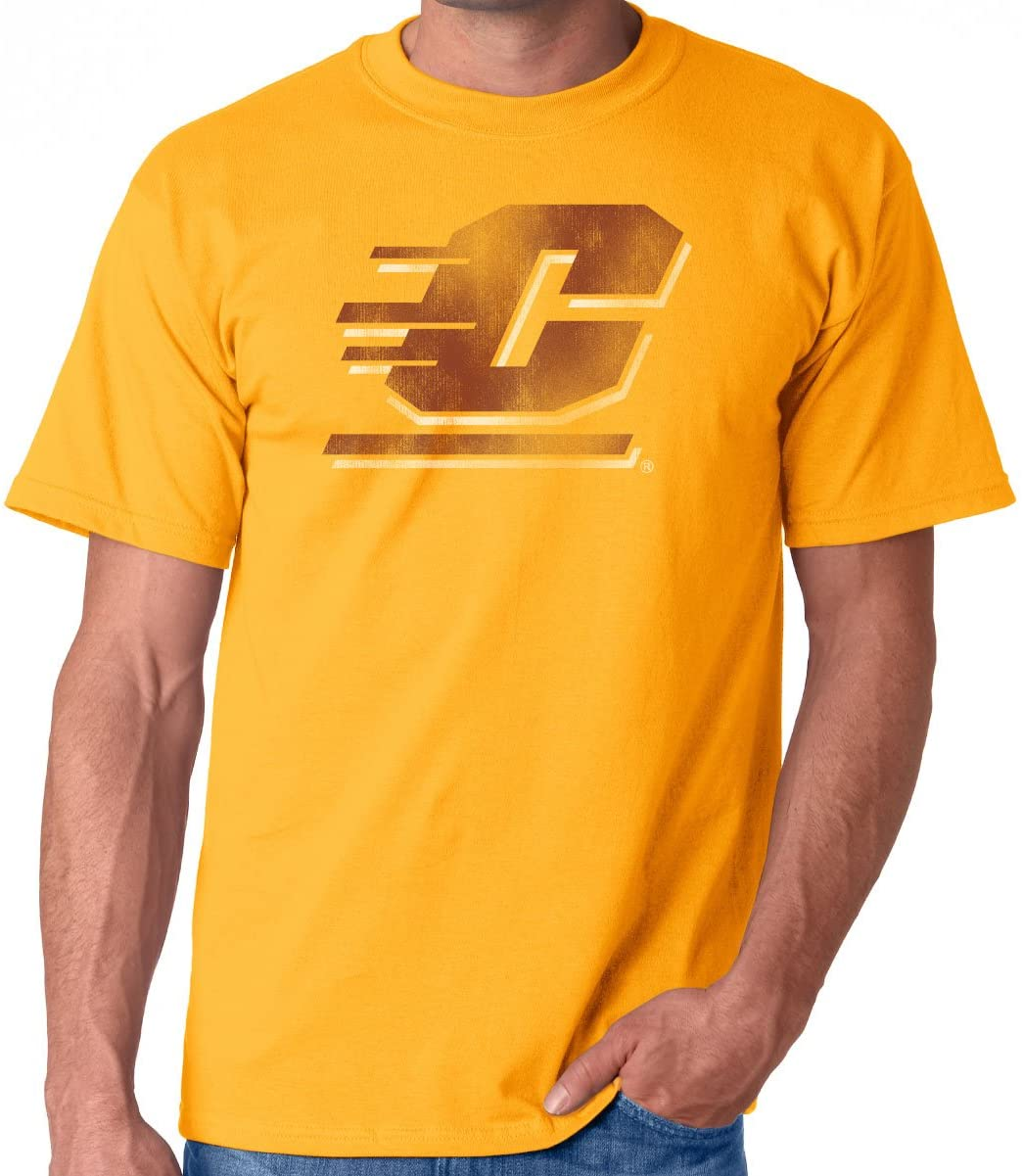 J2 Sport Central Michigan University Chippewas NCAA Washed Out Logo Unisex T-Shirt