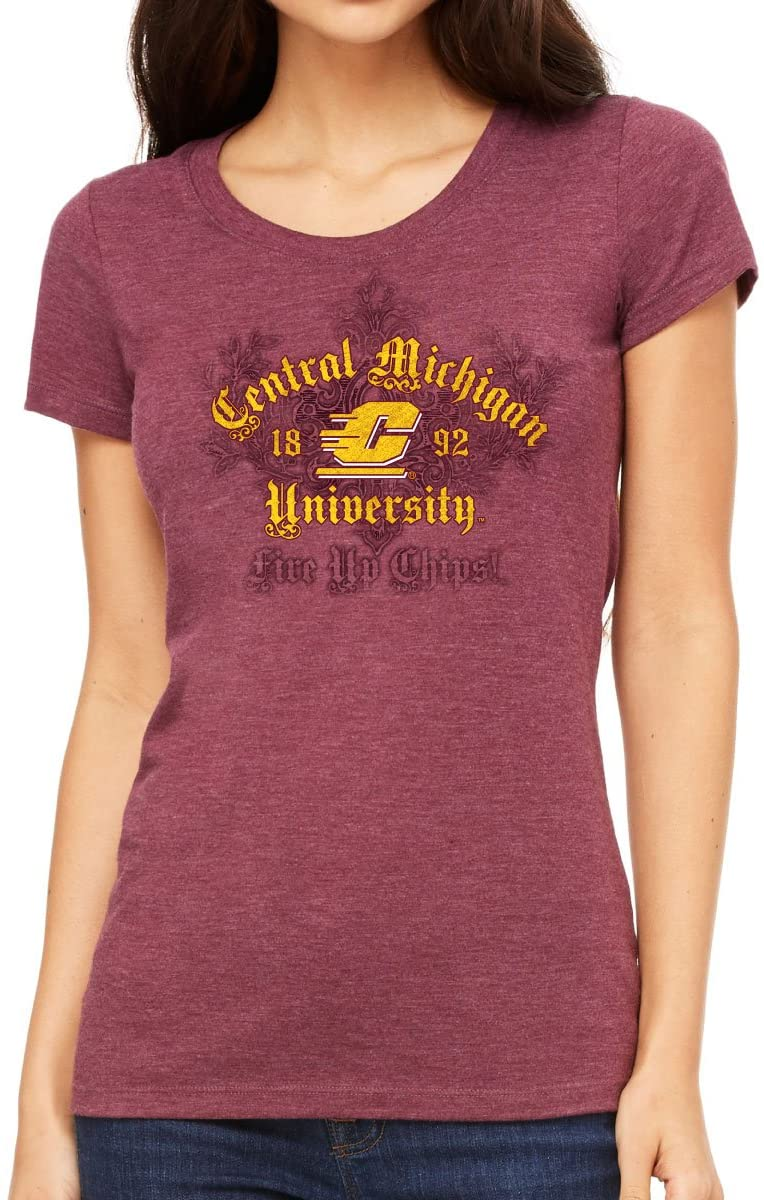 J2 Sport Central Michigan University Chippewas NCAA Couture Junior T-Shirt