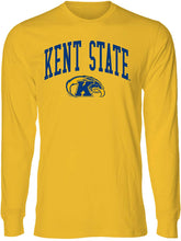 Load image into Gallery viewer, Kent State University Golden Flashes NCAA Jumbo Arch Unisex Long Sleeve T-Shirt