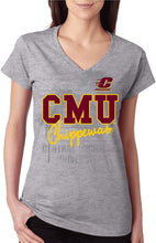 Load image into Gallery viewer, Central Michigan University Chippewas NCAA JV Script Junior T-Shirt