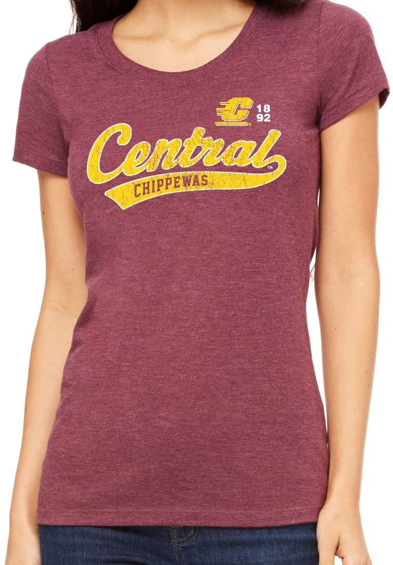 Central Michigan University Chippewas NCAA Old School Sport Tail Junior T-Shirt