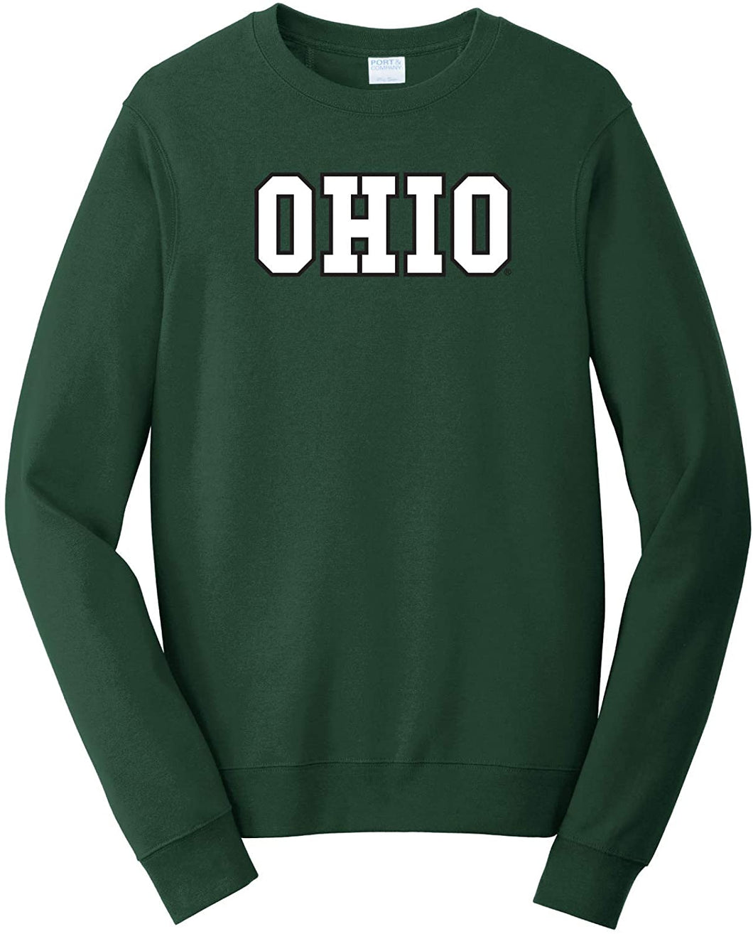 Ohio University Bobcats NCAA Block Unisex Crewneck Sweatshirt