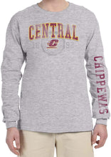 Load image into Gallery viewer, J2 Sport Central Michigan Chippewas NCAA Old School Arch Unisex Long Sleeve Shirt