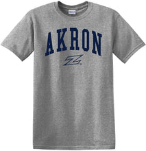 Load image into Gallery viewer, Akron Zips NCAA Jumbo Arch Adult T-Shirt