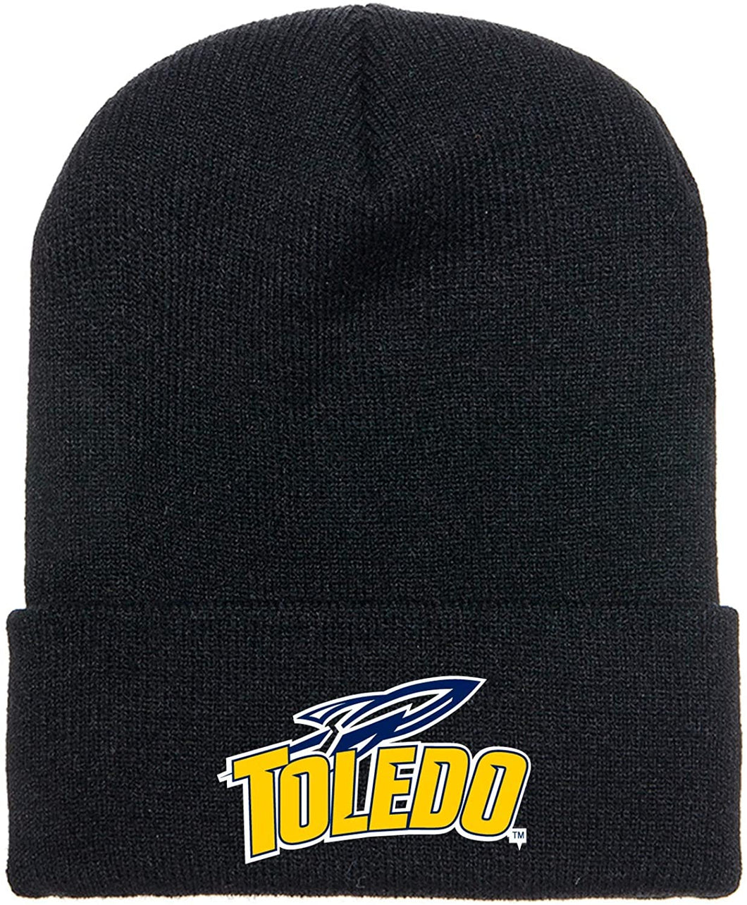 Toledo University Rockets Adult Black Beanie with Embroidered Patch