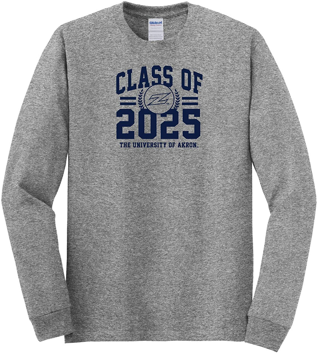 University of Akron Zips NCAA Class of 2025 Arch Long Sleeve T-Shirt