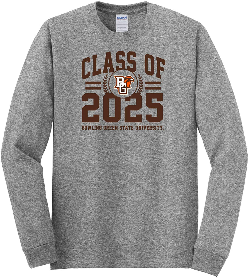 Bowling Green State Falcons NCAA Class of 2025 Arch Long Sleeve T-Shirt