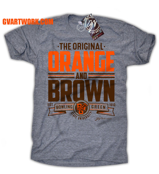 Bowling Green State University Falcons The Original Orange and Brown Unisex Tee