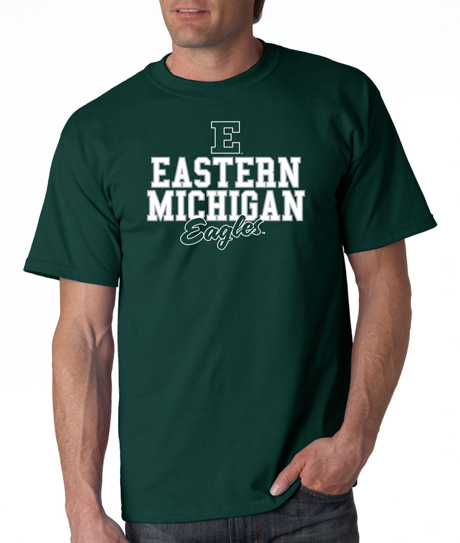 Eastern Michigan University Eagles NCAA Campus Script Unisex T-Shirt