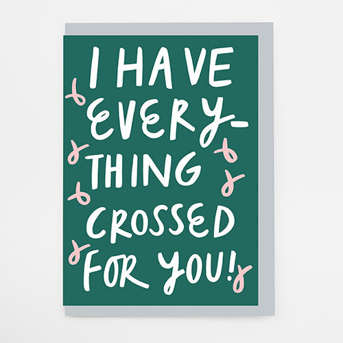 Everything Crossed Card by Alison Hardcastle