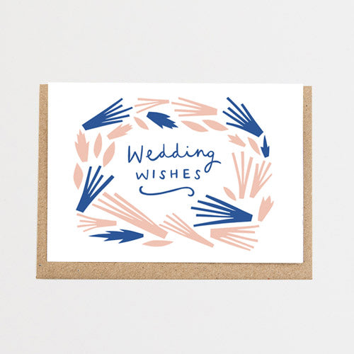 Wedding Wishes Card by Alison Hardcastle