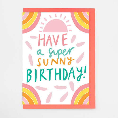 Super Sunny Birthday Card by Alison Hardcastle