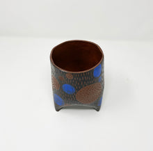 Load image into Gallery viewer, Blue Dot Ceramic Planter by Helen Casey
