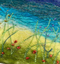 Load image into Gallery viewer, Coastal Path Felt Stitch Art by Helen Riddle