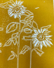 Load image into Gallery viewer, Sunflowers Lino cut print by LDM Designs