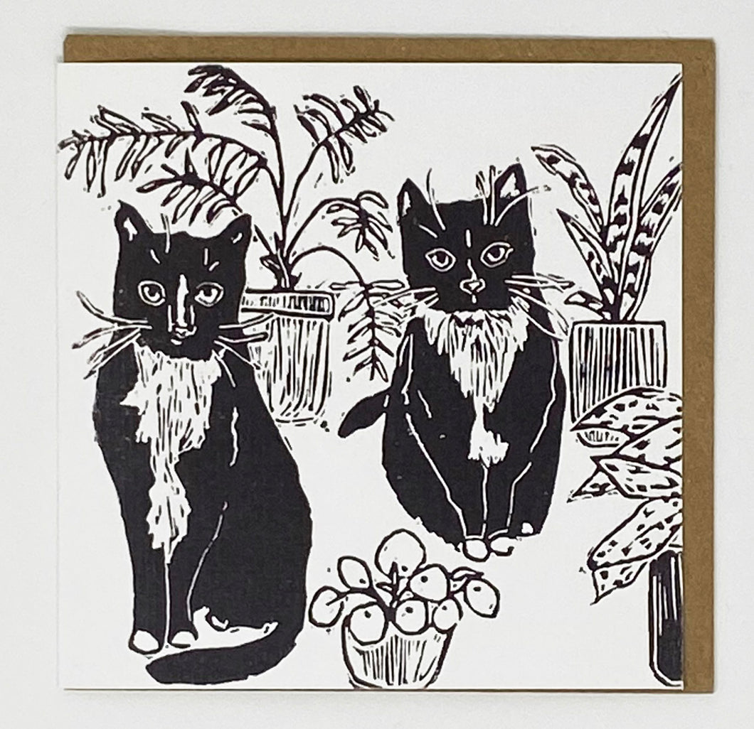 Cats & Plants Card by LDM Designs