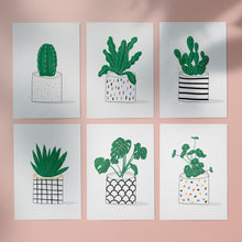 Load image into Gallery viewer, Malmade - Pot Plant Postcard Print Set