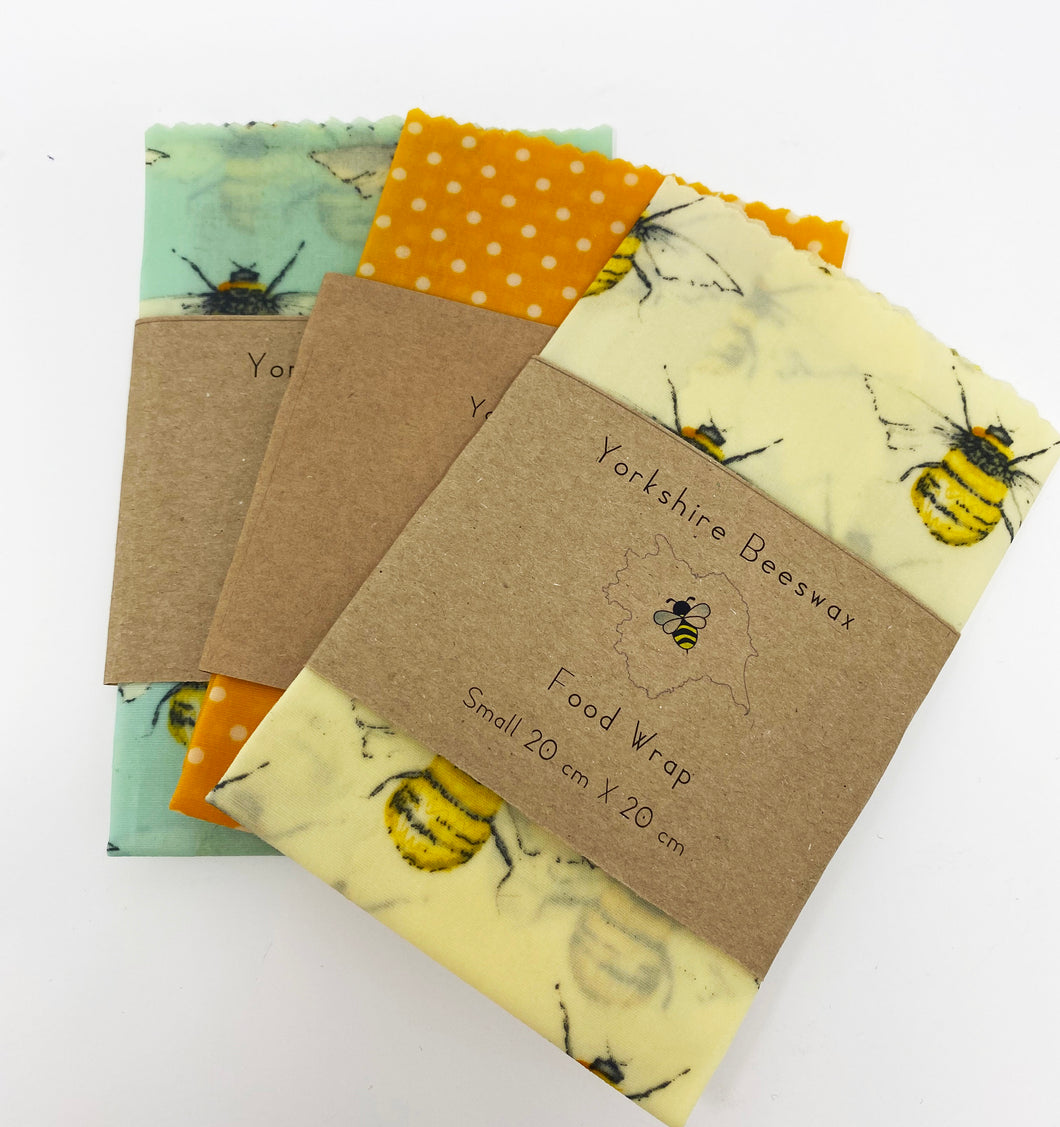 Wax Food Wraps by Yorkshire Beeswax S