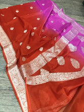 Load image into Gallery viewer, Banaras Khaddi Georgette Saree