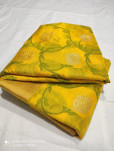 Load image into Gallery viewer, Chanderi Handloom Pattu Soft Silk