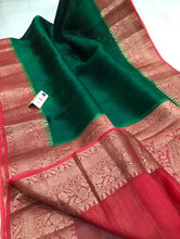 Load image into Gallery viewer, Banarasi Handloom Kora Silk Saree