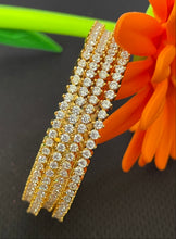 Load image into Gallery viewer, Sri fashion jewellery Childs /ladies Bangles - White Stones