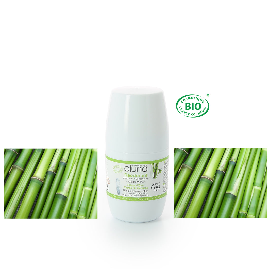 ALUNA - Roll on déodorant Bambou BIO - Apaise moi - 50ml