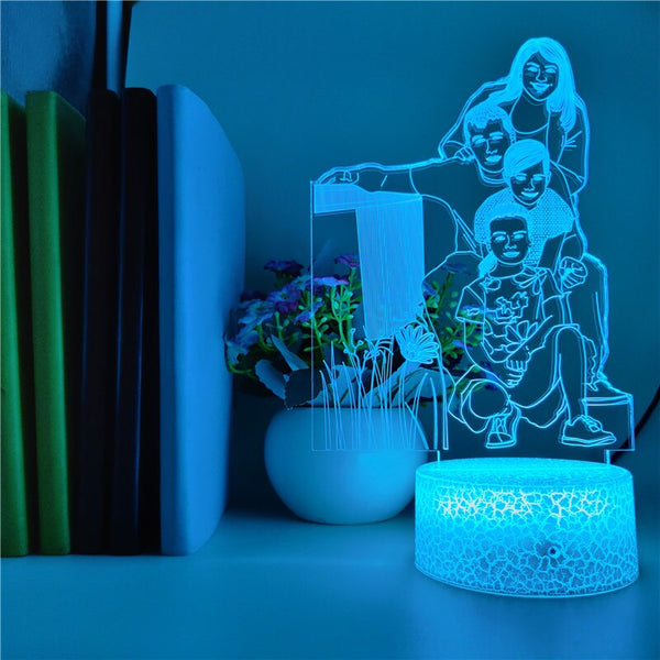 Custom Picture 3d Lamp with Bluetooth Speaker