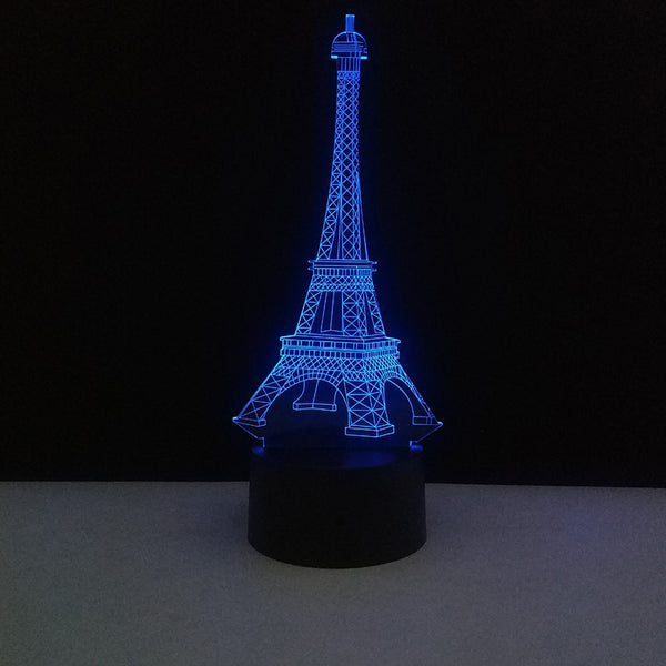 Eiffel Tower 3D Illusion Lamp