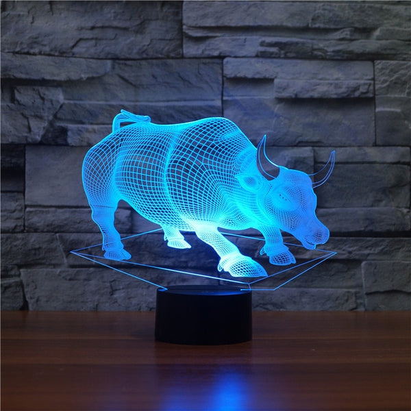 Zoo Animals LED Night 3D Illusion Lamp