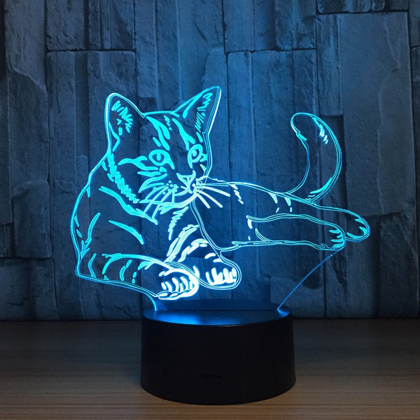 Cat 3D illusion Lamp