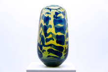 Load image into Gallery viewer, cobalt on silver vase