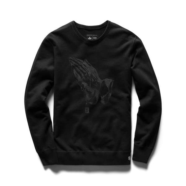 VICTORY JOURNAL X REIGNING CHAMP - Prayer Hands Crewneck